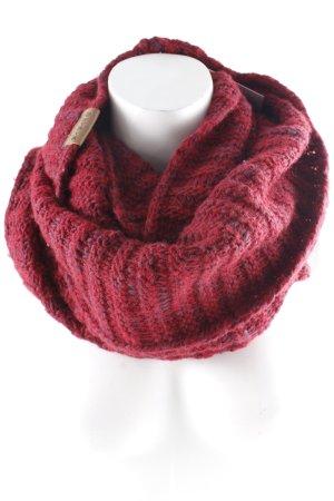 Shisha Sciarpone rosso scuro-viola scuro puntinato stile casual