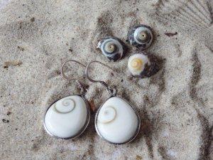 Shiva Auge Ohrhänger Muschel Silber
