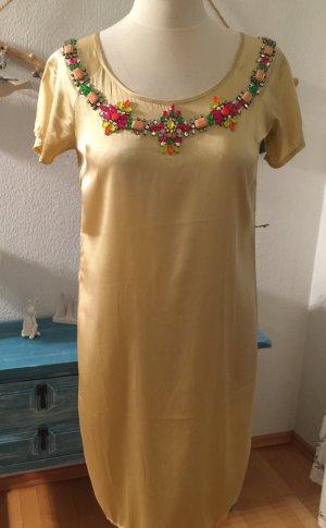 Shivadiva Kleid neu Gold mit Strass Größe M