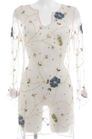 Shivadiva Transparenz-Bluse Blumenmuster Romantik-Look