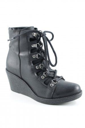 Shoe Biz Copenhagen Keil-Stiefeletten schwarz Casual-Look