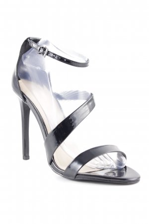 shoe Box Strapped High-Heeled Sandals black elegant