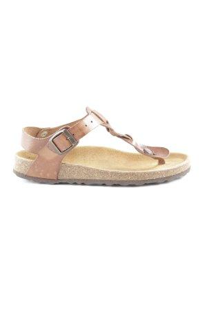 Shoe the Bear Zehentrenner-Sandalen braun Casual-Look