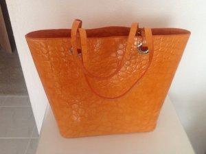 Shoper Echtleder orange ,Tosca blu