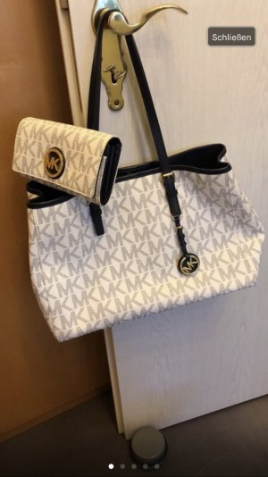 Michael Kors Borsellino bianco-blu scuro