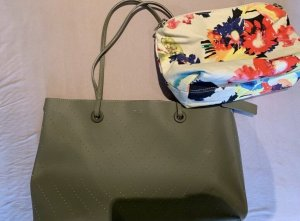 David Jones Shopper olive green