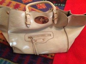 Shopper beige faux cuir
