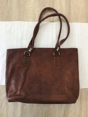 Shopper brown leather