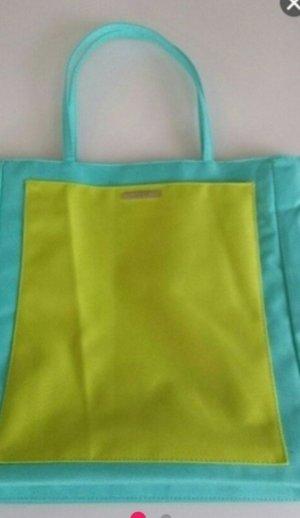 Comprador amarillo limón-turquesa