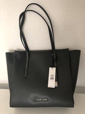 Shopper Calvin Klein, Grau, Neu mit Etikett