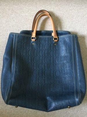 Carolina Herrera Borsa shopper blu acciaio