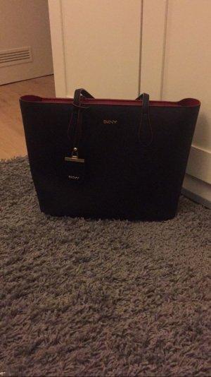 Shopper Dkny schwarz rot Tasche