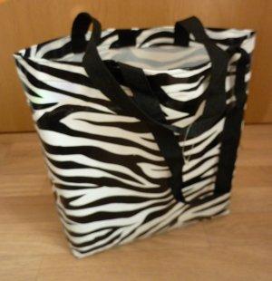 Shopper Einkaufstasche Zebra Animal Print gestreift