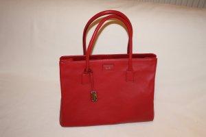 Shopper Genuine Leder von Paul Costelloe in Rot NEU
