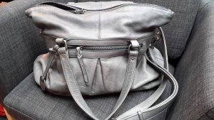 Shopper grau aus Leder mit abn. Riemen