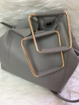 Zara Basic Shopper lichtgrijs-goud