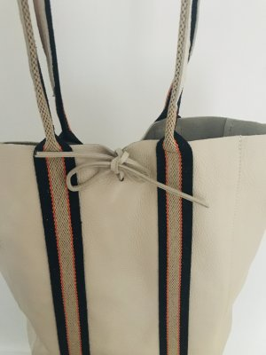 Shopper Handtasche Ledertasche weich beige