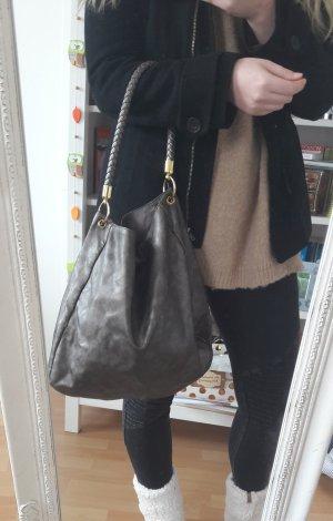 Shopper Handtasche metallic bag silber