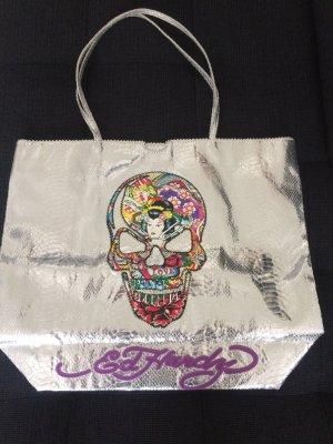 Shopper Handtasche mit Ed Hardy Aufdruck