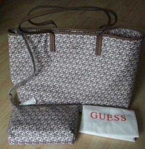 Shopper- Handtasche + Reißverschlusstasche  von Guess  - Top!