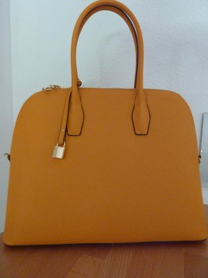 H&M Shopper gold orange-light orange imitation leather