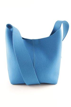 Shopper cornflower blue flecked casual look
