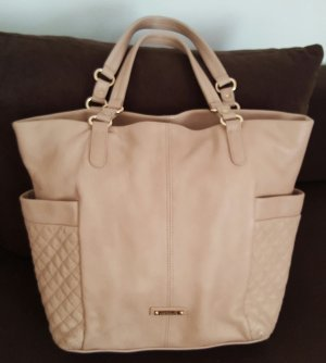 Shopper beige leather