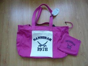 Shopper, Marke: Sansibar, pink, mit herausnehmbarer Innentasche, Baumwolle, neu