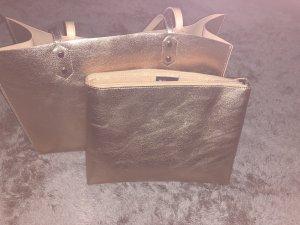 Shopper, metallic look, mit Innentasche