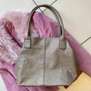 Tom Tailor Shopper grey brown imitation leather