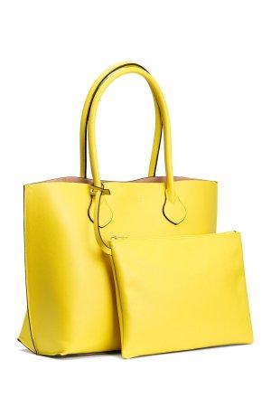 Shopper mit Clutch H&M Gelb