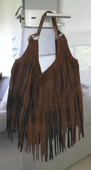 s.Oliver Borsa con frange nero-marrone