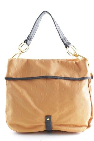 Shopper orange-dunkelbraun Casual-Look