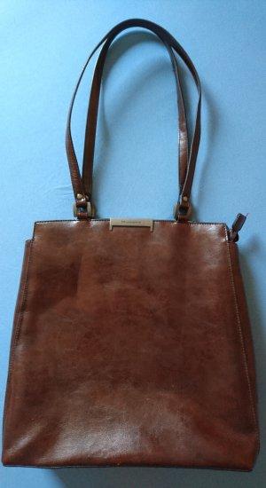Shopper cognac-coloured imitation leather