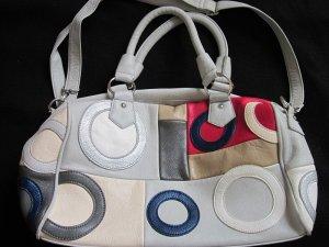 Shopper argenté faux cuir