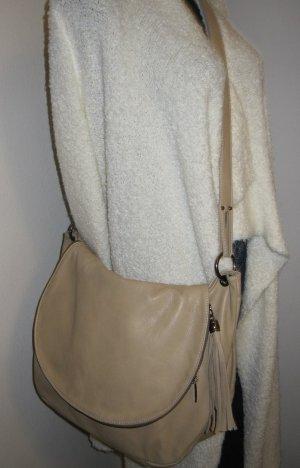 Shopper Tasche aus hochwertigem Rindsleder beige