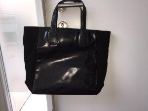 Shopper Tasche echt Wildleder / Glattleder kombiniert NEUWERTIG