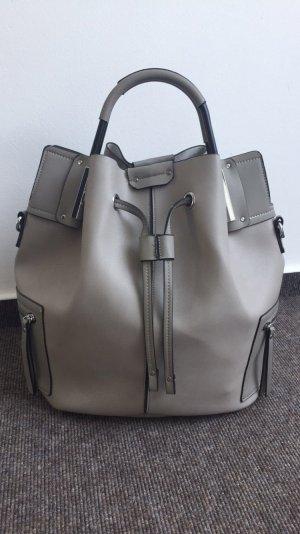 Shopper Tasche Grau Neu