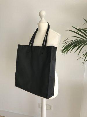 Shopper Tasche groß Kunst Vegi Leder mit Innenfach wie Neu