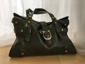 Friis & Company Shopper forest green-khaki imitation leather