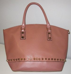 Carry Bag dusky pink synthetic material