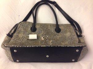 Shopper Tasche schwarz/beige/Silber