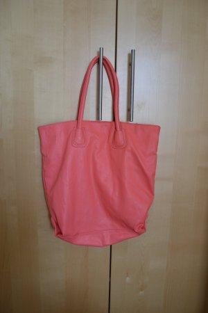 Shopper Tasche von Pieces in apricot/lachsfarben