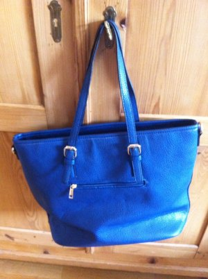 Shopper bleu fluo faux cuir