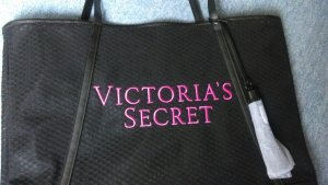 Victoria's Secret Shopper noir-rose fluo polyester
