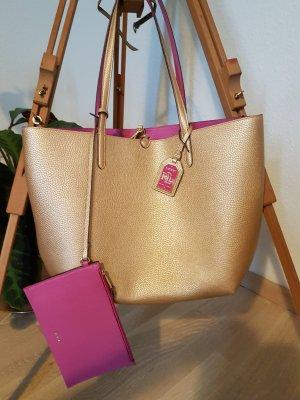 Shopper von Lauren by Ralph Lauren gold pink WIE NEU