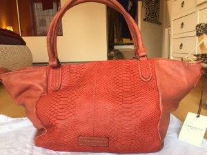 Liebeskind Berlin Shopper dark orange-brown leather