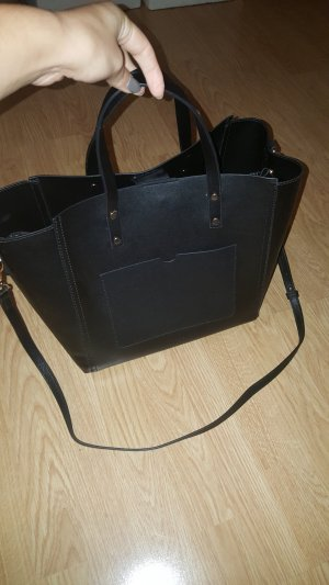 Shopper von Mango in schwarz