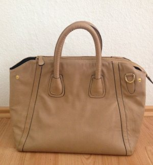Shopper von Pieces in hellbraun