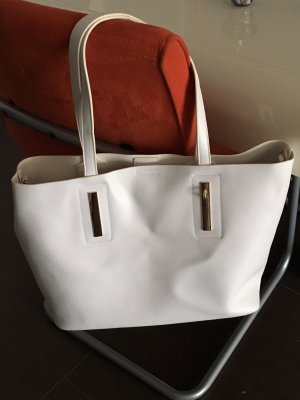 Zalando Shopper white-silver-colored imitation leather